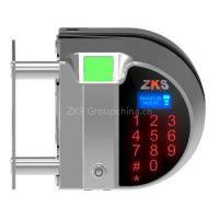 Zks-G1 Newest design fingerprint recognition single tempered glass door lock with remote controller