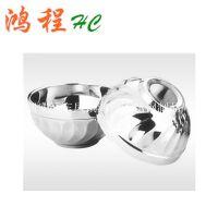 HC供应 不锈钢双层隔热百合碗 玉兰碗
