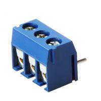 蓝色一字圆孔FS301R-5.0弯针环保电源连接器