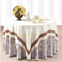 爵鼎酒店茶楼餐桌布餐厅提花台布婚庆圆形桌布加厚 厂家直销