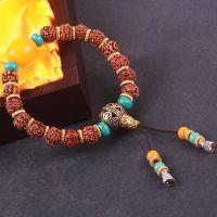 天然尼泊尔金刚菩提子手链佛珠手串 藏式佛珠批发厂家 绿松石蜜蜡