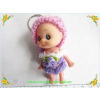 创意精品钥匙扣批发 甜美可爱毛帽娃娃挂件 创意新奇钥匙环钥匙圈