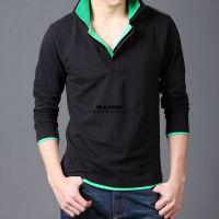 上海T恤衫厂家印制翻领t恤定做 春秋长袖价格广告衫定制、可刺绣
