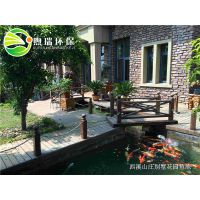 锦鲤鱼池设计建造 锦鲤鱼池过滤系统 假山庭院鱼池制作 锦鲤鱼池水处理