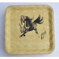 竹质碗、碟、盘厂家生产定做日韩沙拉式外贸出口原生态竹制水果盘
