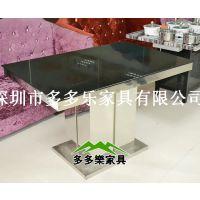 钢化玻璃火锅桌 餐饮配套火锅桌椅 家用火锅桌