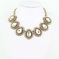 特价 珍珠水钻项链项饰 欧美流行款 速卖通热搜