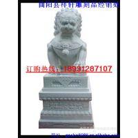 汉白玉石雕狮子天安门蹲狮子|湖南白现代石狮子雕塑|曲阳石雕石狮