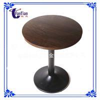 餐厅家具厂家直销实木转盘餐桌809 奶茶店桌椅