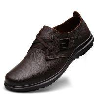 2014新款正品男士时尚休闲头层皮真皮皮鞋 单鞋 加绒英伦系带棉鞋