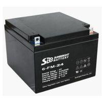圣豹12V24Ah蓄电池 SBB蓄电池 6-FM-24圣豹蓄电池直销