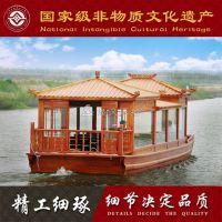 出售双亭画舫船 水上观光旅游船 特色餐饮船 玻璃钢船 楚风木船专业定制