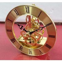 厂家供应石英机芯 仿古镂空透视机芯 水晶钟表配件 TS85金属齿轮机芯批发零售