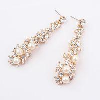 欧美名媛气质时尚珍珠长款精品耳钉 速卖通货源 饰品批发