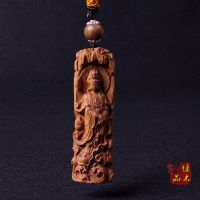 木质雕刻车挂批发 澳洲檀香木手工艺品 观音挂件 做工精细