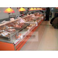 供应湖南省:长沙市、株洲市、岳阳市超市鲜肉冷藏柜/鲜肉保鲜柜/鲜肉柜定做