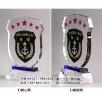 2015年老兵退伍纪念品订做,福州老兵退伍纪念品制作,退伍定做水晶纪念品