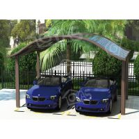 铝合金车棚、遮阳棚雨棚单边棚、合抱停车棚单车位、欧雅斯铝合金棚