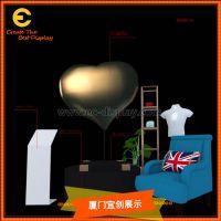 情人节活动设计玻璃钢包布工艺大型爱心气球DP定制