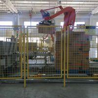 供应饲料码垛机、安川机器人、川崎套箱机器人
