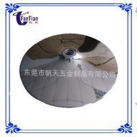 厂家定做规格350mm圆形电镀喇叭盘镜面亮光桌子底盘 餐厅椅子底盘
