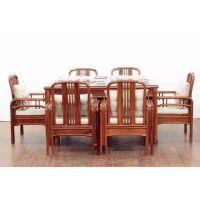 批发供应刺猬紫檀新中式餐桌椅价格图片大全 名琢红木