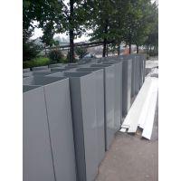 白色灰色PVC风管塑料板方形管生产加工施工带法兰弯头 实验室通风管道 易焊接