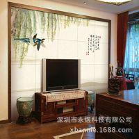 2015年背景墙壁纸壁画 中式柳燕3D立体电视背景墙厂家直销价