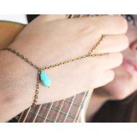 欧美外贸厂家直销速卖通 爆款 绿松石手链个性  简约时尚女士手链