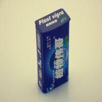 东莞工厂定做绿前含片糖铁盒 翻盖穿铁线润喉糖铁盒 植物伟哥铁盒