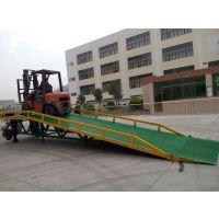供应镁丰DCQY8吨/10吨移动式登车桥 手摇机械式升降叉车登车桥