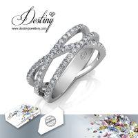 戴思妮 时尚戒指 采用施华洛世奇元素 水晶戒指 饰品 厂家直销