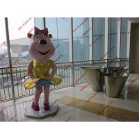 卡通形象熊夫人玻璃钢动物雕塑 商场装饰美陈雕塑