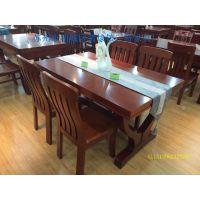 简约橡胶木餐桌椅组合小户型美式现代餐桌全实木伸宿圆形折叠桌子