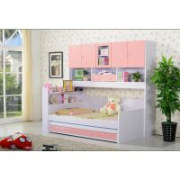 供应儿童家具组合床高低子母床儿童高箱床儿童衣柜组合床