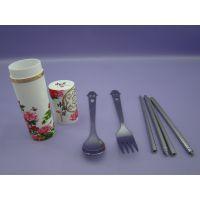 笑脸叉勺筷三件套 便携不锈钢餐具 户外用品餐具 【揭阳名瑞】特价批发