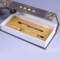 精品黄金樟钢笔高级中性签字笔 木质工艺书写笔文教工具教师礼物