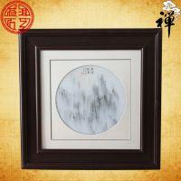 天然大理石画 《奇峰扦云》精品 挂屏 客厅 办公 屏风 高贵礼品