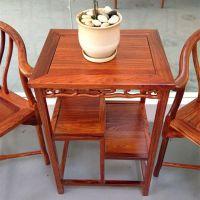 非洲花梨茶几三件套 亚花梨圈椅小方桌子 客厅小件休闲红木家具