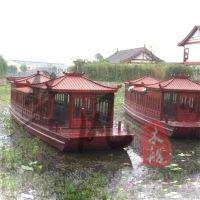 山东木船厂家供应景点景区水库游玩观光木船10m仿古游览客船