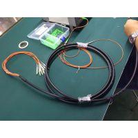 耐斯龙厂家直供12芯多模铠装防水尾缆 加防水接头 可定制
