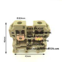 SAK-6EN接线端子 JXB-6EN端子排6mm平方导轨通用组合端子铜件阻燃