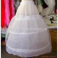 供应批发新娘裙撑三钢圈1层硬纱Q301结婚纱衬普通绑带腰蓬裙厂家直销