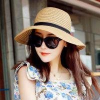 遮阳帽 女 夏天大沿帽沙滩帽草帽子太阳帽防紫外线防晒大檐帽礼帽
