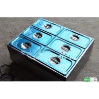 HX-6V六盆电热汤池 不锈钢麻辣烫设备 台式保温汤池商用汤池