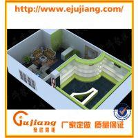 公司展厅烤漆皮具样板柜定制 专卖店形象店设计 广州聚匠展柜厂