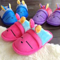棉拖鞋 儿童拖鞋秋冬季卡通小兔男女童防滑加厚室内家居拖鞋批发