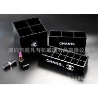 供应亚克力收纳盒有机玻璃彩妆整理四格化妆刷收纳盒时尚家居用品