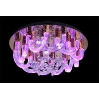 麦极客现代简约LED圆形汽泡水晶吸顶灯温馨客厅餐厅卧室灯具