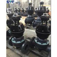 气动UPVC法兰隔膜阀,三维阀门,气动衬胶隔膜阀